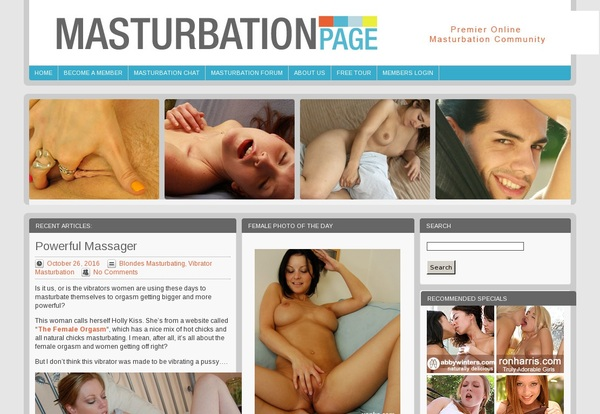 Masturbation Page Password And Account