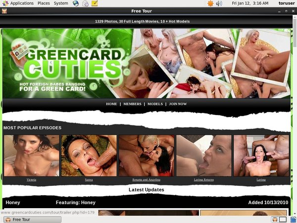 Premium Accounts Green Card Cuties