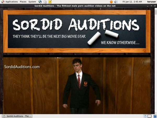 Sordid Auditions Paypal Purchase