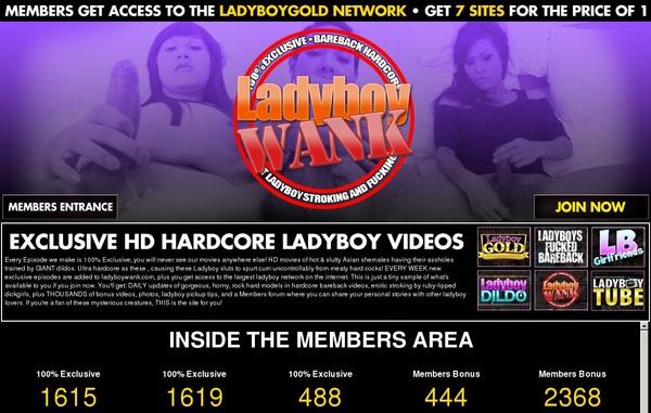 Ladyboy Wank Account