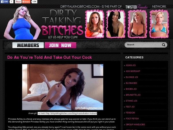 Dirtytalkingbitches.com Free Passes