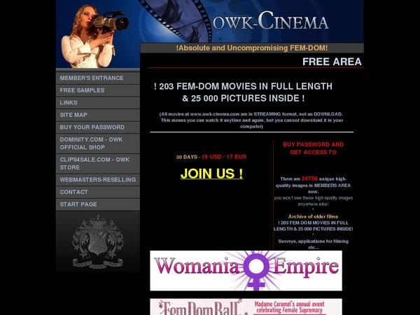 Owk Cinema Checkout
