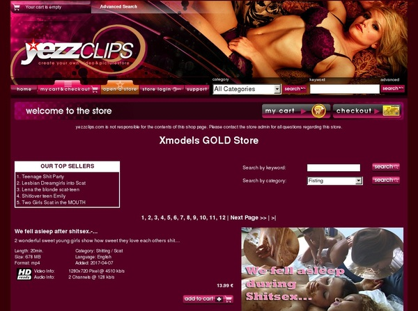 Xmodels Gold Store Credits